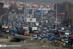 ترافیک در محور تهران-پردیس و جاده فیروزکوه