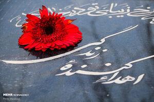 عکس/ غباروبی مزار جانبخشان آسمانی