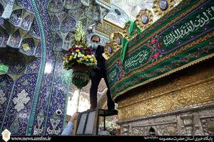 عکس/ گلآرایی حرم حضرت معصومه(س) در آستانه اعیاد شعبانیه