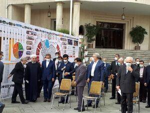 عکس/ حضور رئیس جمهور و اعضای دولت در جمع خبرنگاران