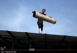 عکس/ رونق قالیشویی در آستانه نوروز