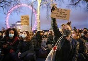 سومین شب اعتراضات لندن علیه قتل یک زن توسط پلیس