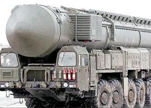 عکس/ چپ کردن ماشین حامل موشک اتمی!