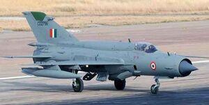 سقوط جنگنده نیروی هوایی ارتش هند و مرگ خلبان