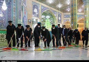 عکس/ آیین غبارروبی مسجد مقدس جمکران