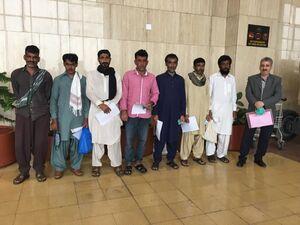 ۷ ملوان ایرانی از زندان پاکستان آزاد شدند