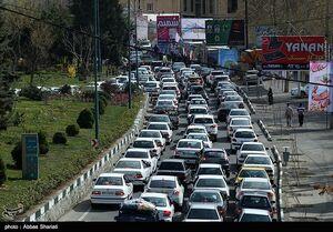ترافیک در جاده چالوس به سمت شمال نیمه سنگین است