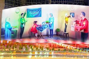 عکس/ دیوار نگاره جدید میدان ولیعصر در آستانه نوروز