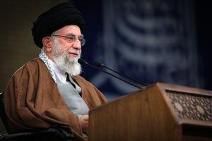 عکس/ شبکه العهد عراق در حال پخش زنده سخنرانی رهبر انقلاب