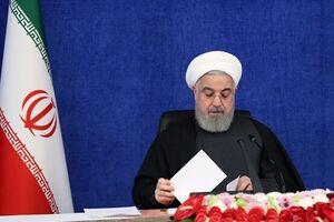 روحانی سال ۱۴۰۰ را به رهبر معظم انقلاب تبریک گفت - کراپشده