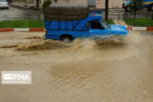 فیلم/ قوع سیلاب در شهر تربت حیدریه