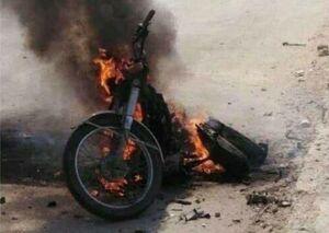 تصاویر جدید از موتور سیکلت انتحاری در بغداد