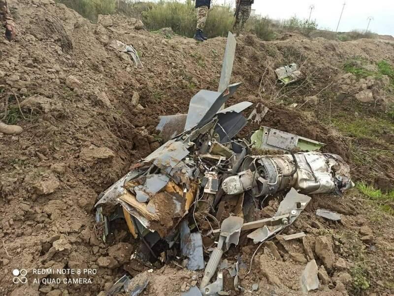 کشف لاشه موشک انگلیسی در عراق+عکس