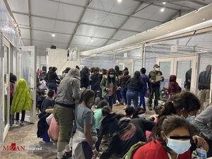 عکس/ کمپ مهاجرین در مرز تگزاس