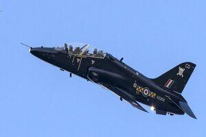 سقوط هواپیمای جت نیروی هوایی انگلیس