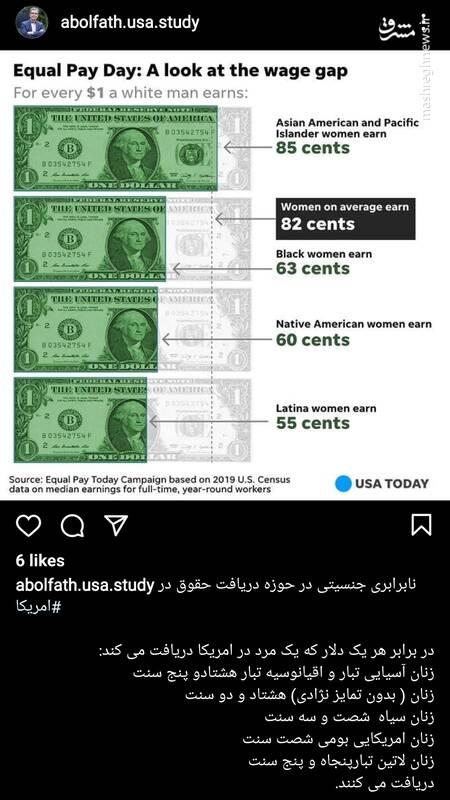 زنان شاغل در آمریکا چقدر حقوق میگیرند؟