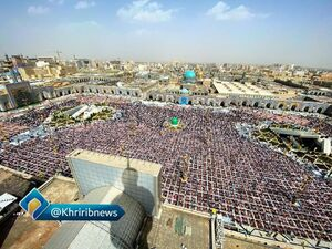 عکس/ اقامه اولین نماز جمعه قرن در مشهد