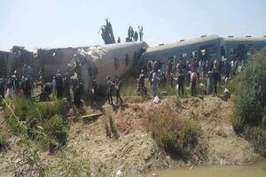برخورد ۲ قطار مسافربری با یکدیگر در مصر/ ۳۲ کشته و ۶۶ زخمی