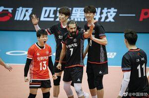 والیبالیست ایرانی در چین بهترین شد
