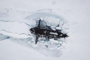 فیلم/ زیردریایی های هستهای روسیه در قطب شمال