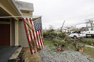 عکس/ خسارت گردباد مرگبار در  آلاباما