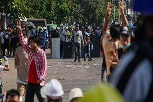 در خونین تیرن روز اعتراضات میانمار ۹۰ نفر کشته شدند