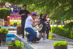 عکس/ باغ گلهای اصفهان در نوروز ۱۴۰۰