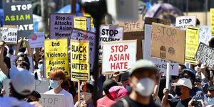 اعتراض به خشونت علیه آسیاییتبارها در ۶۰ شهر آمریکا+عکس