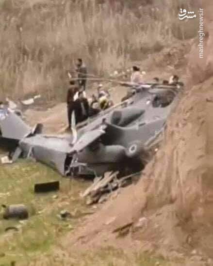 عکس/ سقوط بالگرد تهاجمی ارتش چین