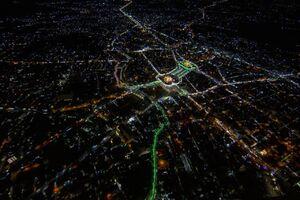 تصاویر هوایی از کربلا در نیمه شعبان