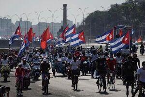 راهپیمایی مردم کوبا علیه تحریمهای آمریکا