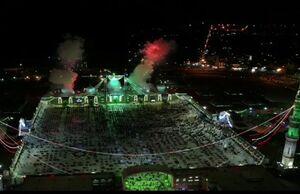 تصاویر هوایی از جشن نیمه شعبان در مسجد جمکران