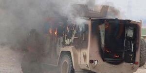 فیلم؛کاروان لجستیک آمریکا در صلاحالدین عراق هدف قرار گرفت