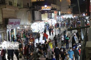 عکس/ شلوغی بازار بندرعباس در روزهای کرونا