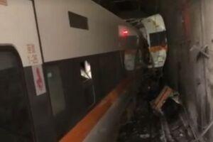 تصادف مرگبار قطار و کامیون در تایوان با 36 کشته+فیلم و تصاویر