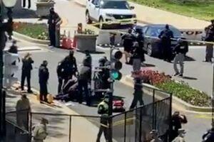 تیراندازی در مقابل ساختمان کنگره آمریکا +فیلم