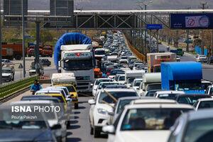 عکس/ وضعیت ورودی و خروجیهای شهر همدان
