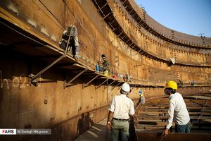 عکس/ پروژه انتقال خط لوله گوره جاسک