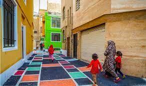 رنگینکمانی از رنگها در یکی از کوچههای تهران +عکس