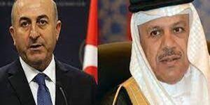 اولین تماس وزیر خارجه ترکیه با همتای بحرینی بعد از بحران قطر