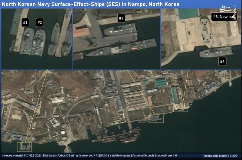 ادامه ساخت شناور موشک انداز در کره شمالی+عکس