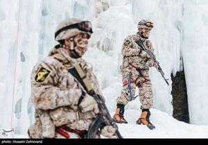 عکس/ تمرین یخ نوردی یگان ویژه صابرین