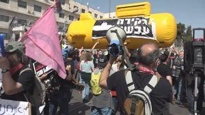 فیلم/ تظاهرات مقابل محل دادگاه نتانیاهو
