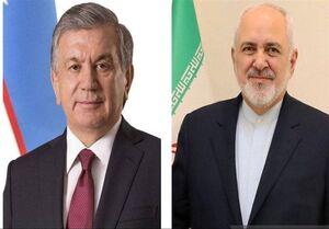 دیدار ظریف با رئیس جمهور ازبکستان