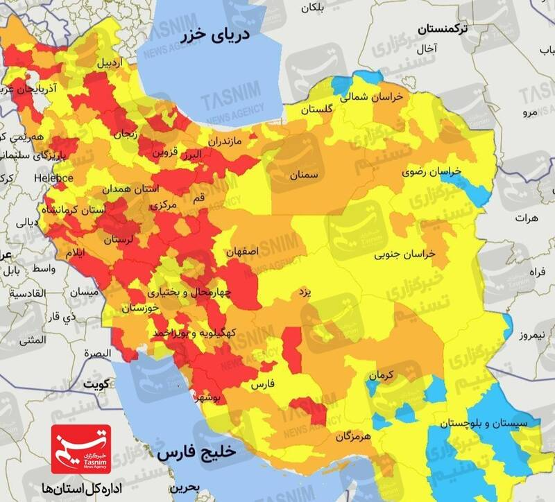 آماده باش کامل مراکز درمانی +نقشه کرونایی کشور