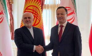 فیلم/ دیدار ظریف و وزیر خارجه قرقیزستان