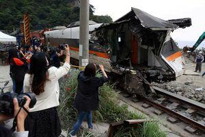 تصویر جدید از قطار سانحه دیده در تایوان