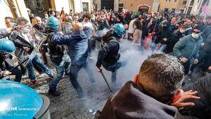 عکس/ اعتراضات علیه محدودیتهای کرونایی در ایتالیا