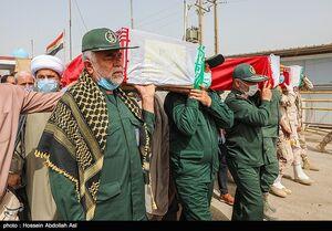 عکس/ ورود پیکر ۶۳ شهید تازه تفحص شده از مرز شلمچه