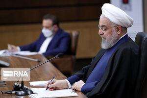 عکس/ روحانی در اجلاس مجازی سران کشورهای دی -۸